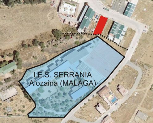 Mapa de la finca en la que se ubica el IES Serranía
