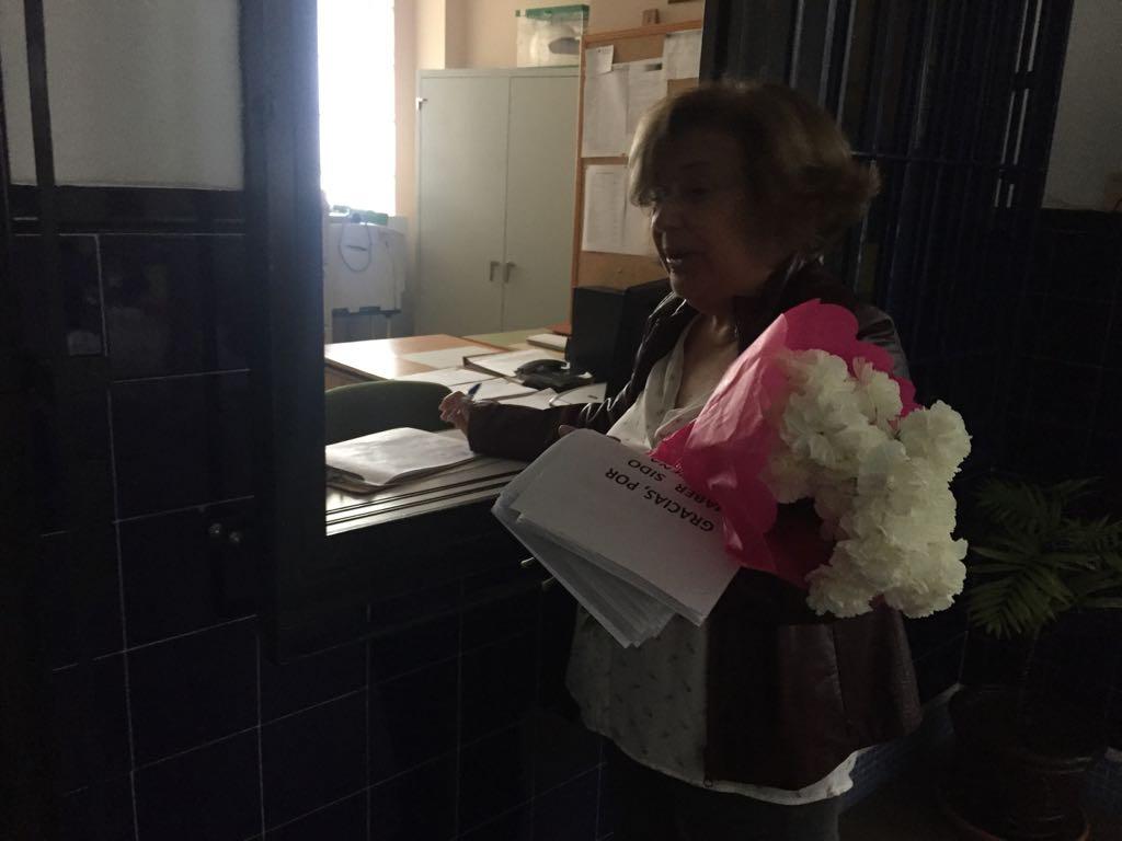 Última firma de Ana Bellido en el IES Serranía