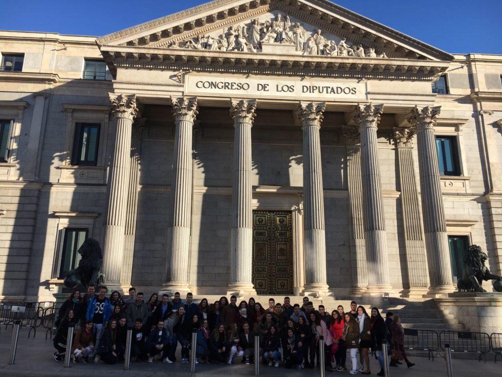 Viaje Bachillerato Madrid Enero 2018 - Palacio del Congreso