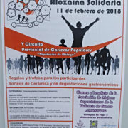 Cartel IX Circuito Urbano Alozaina Solidaria - 11 de Febrero de 2018